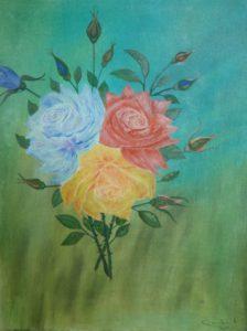 """'Epanouissement"""" olio su tela 40x50cm 2011"""