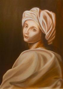 """Copia D'autore """"Beatrice Cenci di Guido Reni"""" olio su tela 50x70cm 2017Copia D'autore """"Beatrice Cenci di Guido Reni"""" 50x70cm Olio su tela 2017"""