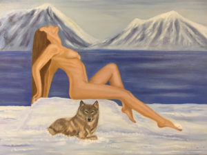 """Carezza d'inverno"" olio su tela 50x70cm 2016"