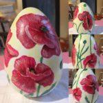 Decorazione uova in ceramica 15 cm.