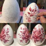 Decorazione uova in ceramica 18 cm.