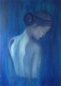 """""""Fragilità"""" olio su tela 50x70cm 2013 ( collezione femminilità)"""