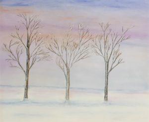 """""""Il mio inverno"""" olio su tela 50x60cm 2012"""