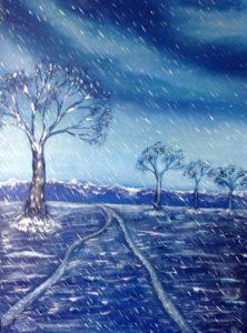 """""""Sogno di un'inverno"""" olio su tela 30x40 cm 2013"""
