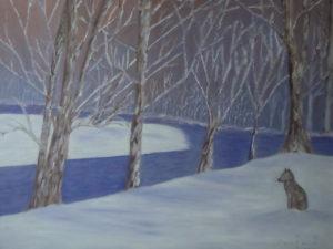 """olio su tela """"Fine inverno"""" 40x50cm"""