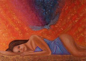 """""""Ad occhi aperti"""" olio su tela 50x70cm 2014"""