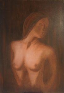 """""""Bellezza"""" olio su tela 50x70cm ( collezione femminilità)"""