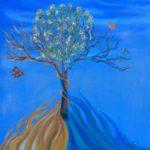 """""""Il cantico delle creature"""" olio su tela 50x50cm 2014"""
