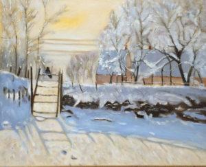 """Copia d'autore """"la gazza di Monet"""" 40x50cm 2015"""
