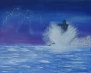 """Il faro"" olio su tela 50x60cm 2011"