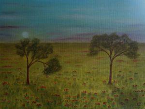 """L'inchino"" olio su tela 30x40cm 2012"