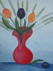 """Il vaso rosso"" olio su tela 40x50cm 2011"