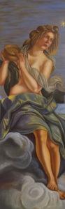 """Copia d'autore """"L'Allegoria dell'inclinazione"""" Artemisia Gentileschi 150x50cm,2018"""